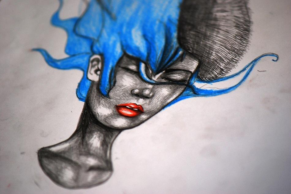 Dessin du Soir : Blue Princess