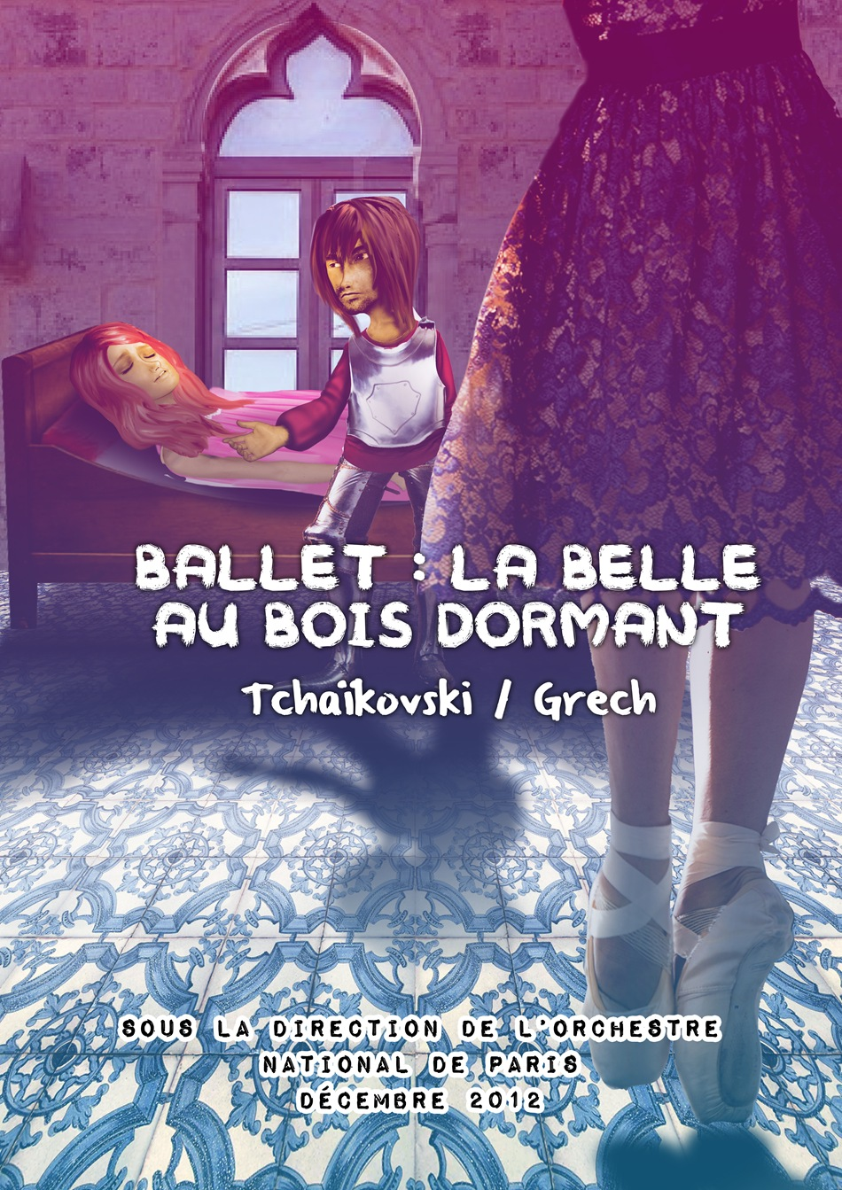 Affiche Belle au bois dormant - Copie