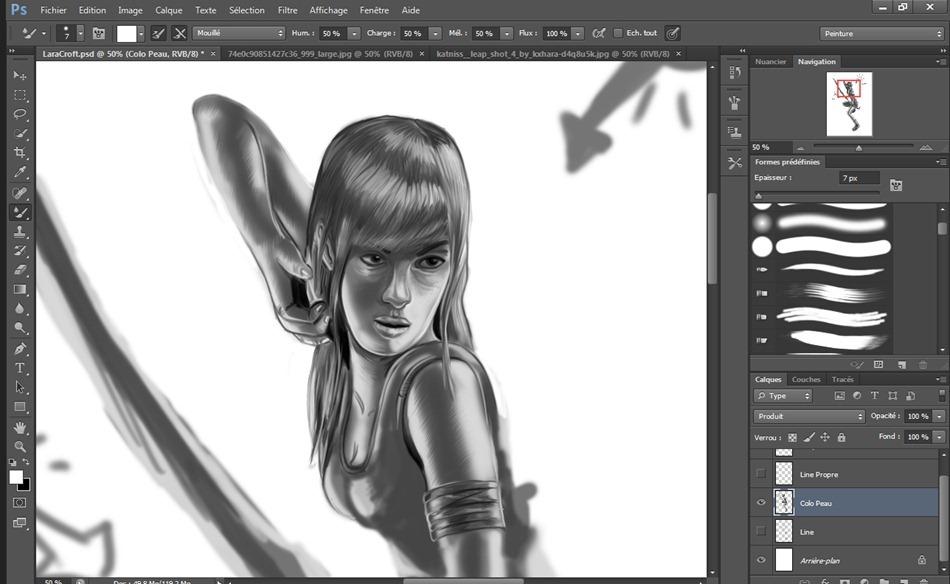 LaraCroft visagefacebook2
