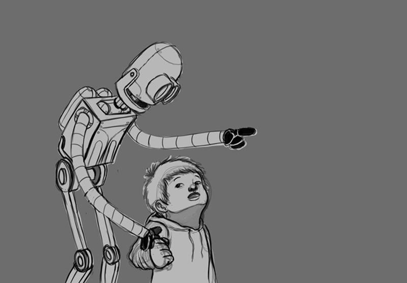 RobotandChild-Line